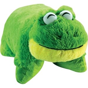 Friendly Frog Decorative Pillow
