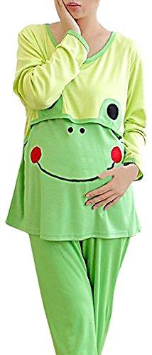 Cute Frog Maternity Nursing Pajamas for Women
