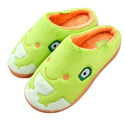 Cute Frog Plush Indoor Non-slip House Slippers