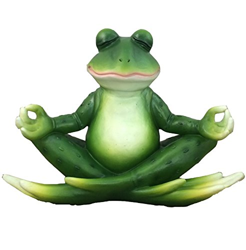 Meditating Yoga Frog Figurine