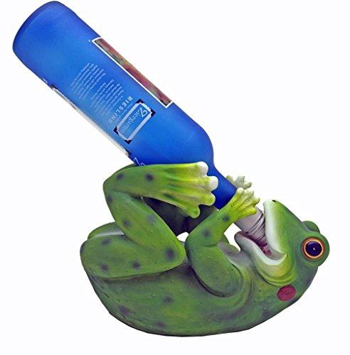 Funny Frog Figurine Wine Bottle Holder