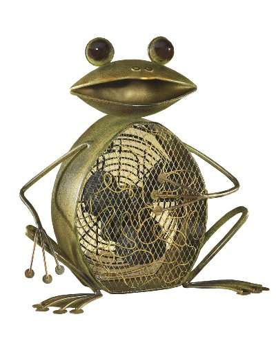 Metal Frog Shape Fan