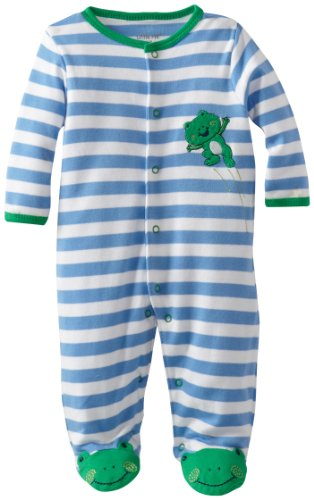 Green Frog Design Pajamas for Baby Boys
